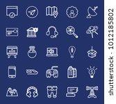 technology outline vector icon... | Shutterstock .eps vector #1012185802