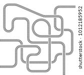 railway line track isolated... | Shutterstock .eps vector #1012185952