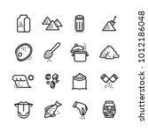 salt vector line icons set.... | Shutterstock .eps vector #1012186048