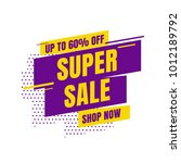 sale banner template design.... | Shutterstock .eps vector #1012189792