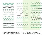 set of seamless zigzag and... | Shutterstock .eps vector #1012189912