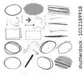 hand drawn sketched frames ...   Shutterstock .eps vector #1012189918