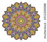 mandala. ethnic decorative... | Shutterstock .eps vector #1012200088