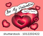 valentines day greeting card... | Shutterstock .eps vector #1012202422