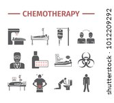 chemotherapy icons set | Shutterstock .eps vector #1012209292