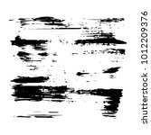vector grungy black paint  ink...   Shutterstock .eps vector #1012209376