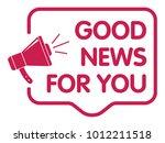 good news announcement | Shutterstock .eps vector #1012211518