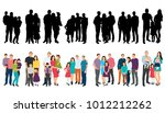 vector  isolated silhouette set ... | Shutterstock .eps vector #1012212262