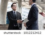 cooperation and success concept ... | Shutterstock . vector #1012212412