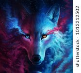 wolf artworks for movie editors | Shutterstock . vector #1012212502