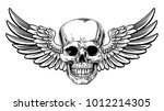 Winged Skull Grim Reaper...