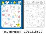 preschool worksheet for... | Shutterstock .eps vector #1012215622