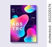 creative design poster. modern... | Shutterstock .eps vector #1012220176