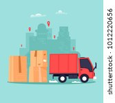 cargo transportation  moving to ... | Shutterstock .eps vector #1012220656
