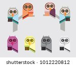 abstract owl vector collection. | Shutterstock .eps vector #1012220812