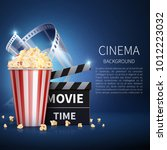 cinema 3d movie vector... | Shutterstock .eps vector #1012223032