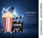 cinema 3d movie vector...   Shutterstock .eps vector #1012223032