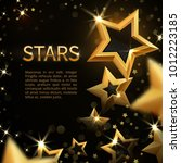 Shiny Sparkling Gold Stars On...