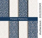 set of eight seamless vector... | Shutterstock .eps vector #1012223245