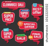 modern origami sale stickers... | Shutterstock .eps vector #1012223332