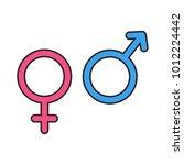 gender symbol icons. vector... | Shutterstock .eps vector #1012224442