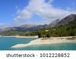 the reservoir of guadalest ... | Shutterstock . vector #1012228852