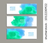 vector banner shapes collection ... | Shutterstock .eps vector #1012230922
