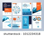 set of medical brochure  annual ... | Shutterstock .eps vector #1012234318