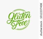 gluten free hand written... | Shutterstock .eps vector #1012237408