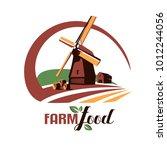 windmill stylized vector symbol ... | Shutterstock .eps vector #1012244056