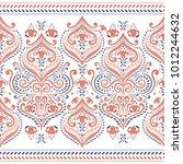 beautiful blue and orange... | Shutterstock .eps vector #1012244632
