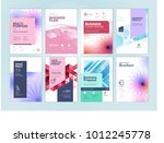 set of beauty brochure  annual... | Shutterstock .eps vector #1012245778