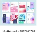 set of beauty brochure  annual... | Shutterstock .eps vector #1012245778