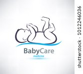 baby stylized symbol  skin care ... | Shutterstock .eps vector #1012246036