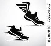 sneaker stylized vector symbol... | Shutterstock .eps vector #1012246072