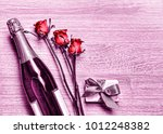 valentine's day. champagne ... | Shutterstock . vector #1012248382