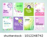 set of beauty brochure  annual... | Shutterstock .eps vector #1012248742