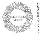 modern linear concept of... | Shutterstock .eps vector #1012248898