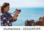 tourist traveler photographer... | Shutterstock . vector #1012249195