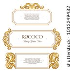 vector kit of vintage frame ... | Shutterstock .eps vector #1012249432