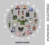 border control service and... | Shutterstock .eps vector #1012250662