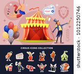circus cartoon colored... | Shutterstock .eps vector #1012250746