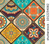 seamless colorful patchwork...   Shutterstock .eps vector #1012254082