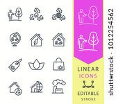 ecology   line vector icon set. ... | Shutterstock .eps vector #1012254562