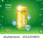 can with banana juice package... | Shutterstock .eps vector #1012255852