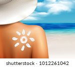 sun cream protecting from... | Shutterstock .eps vector #1012261042