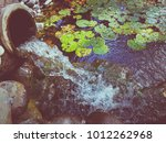 waterfall from an old vase | Shutterstock . vector #1012262968
