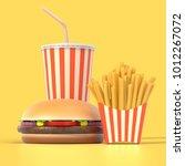 fast food set in generic... | Shutterstock . vector #1012267072