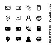 contact icon set | Shutterstock .eps vector #1012267732