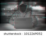 cyber attack with... | Shutterstock . vector #1012269052
